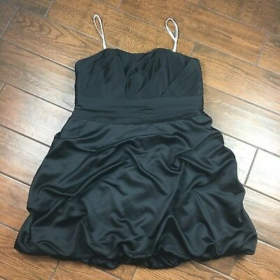 c906e18c4b0 Davids Bridal WOMENS 18 Little Black Dress Semi Formal Sweetheart Neckline
