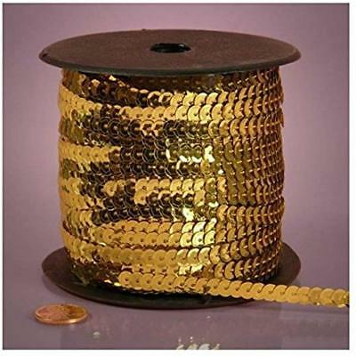 """Gold Metallic Sequins, 6mm X 80Yd Arts, Crafts """" Sewing"""