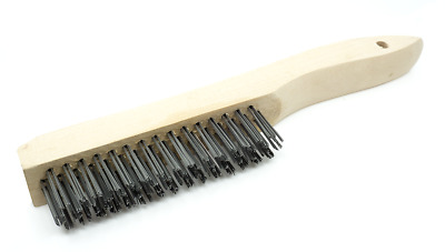 Wire Scratch Brush with Wood Shoe Handle - Carbon Steel - 12 Pack