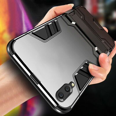 For Huawei P Smart 2019 Y6 Y7 Pro 2019 Shockproof Hybrid Armor Stand Case Cover