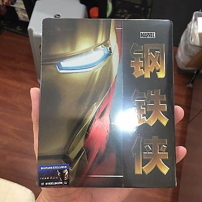 Iron Man Blu-ray Steelbook w/ 1/3 slip cover | Blufans [BE20] Marvel | NEW 1/4