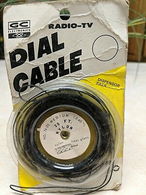 Vintage GC Electronics Radio TV Dial Cable Cord Partial Spool .040 Diameter