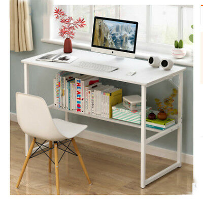 Simple Computer Desk PC Laptop Table Workstation Study With Shelf Home Office