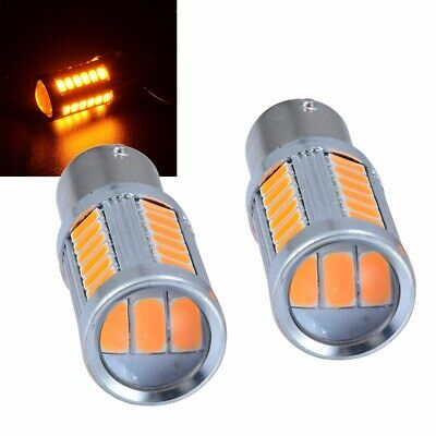 2Pcs Yellow/Amber 1157 5630 33SMD LED Car Backup Reverse Lights DC 12V