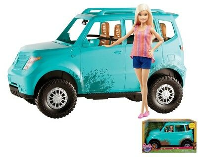 Barbie Camping Doll and Vehicle Set Camper Van Car Doll Accessory Girls Kids Toy