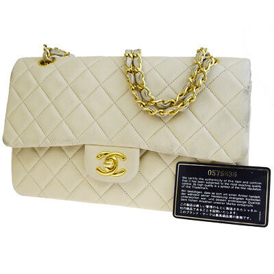 af43cf0c86d9 Auth CHANEL CC Matelasse Double Flap Quilted Chain Shoulder Bag Leather  609EM946