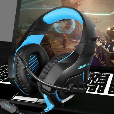 ONIKUMA K1-B Stereo Bass Surround Gaming Headset for PS4 Pro Xbox One PC Mic