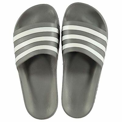 3ffd13bf37ea9e NEW 2019 Adidas Mens Duramo Sliders Flip Flops Grey White 6-12 Limited  edition