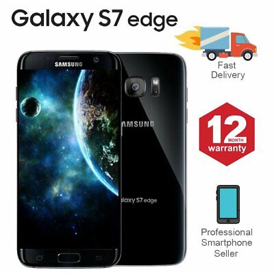 SAMSUNG GALAXY S7 Edge 32GB Unlocked 4G SIM Android Mobile Phone Black