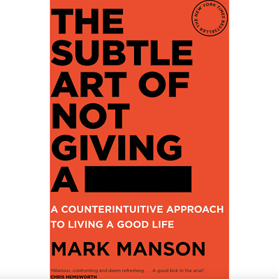 The Subtle Art of Not Giving a F*ck By Mark Manson Paperback FREE FAST Shipping!