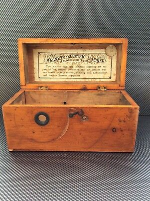 Antique Magneto Electric Shock Machine Wooden Outer Case/box