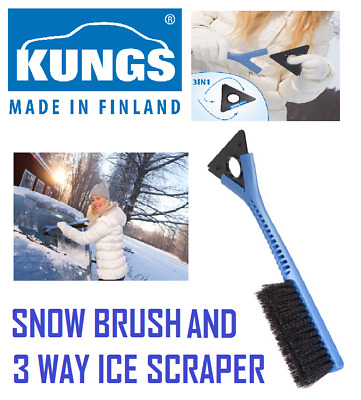 2 x KUNGS Junior-IS Car Snow Brush / Ice Scraper Made In Finland  - TWIN PACK