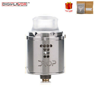 Digiflavor Drop Solo RDA 24mm Rebuilable Atomizer fit Squonk mod Gift Cotton