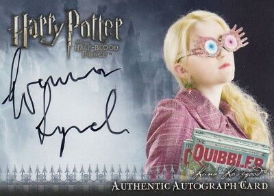 Harry Potter Half Blood Prince Evanna Lynch as Luna Lovegood Auto Card