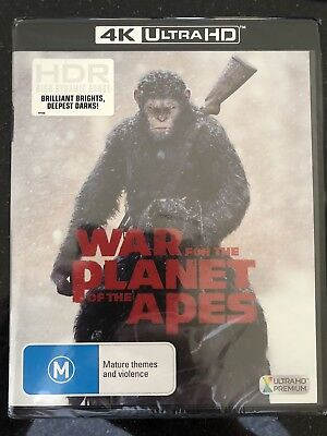 War For The Planet Of The Apes****4K Ultra Hd Blu-Ray***Region B****New & Sealed