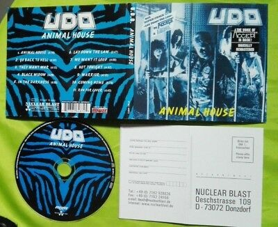 U.d.o. Animal House Digipack Cd Nuclear Blast 2000 Reissue Remastered Accept Udo