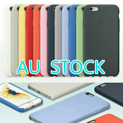 For Apple iPhone XR XS MAX X 6 6S 7 8 Plus Casel Genuine Silicone Case Cover
