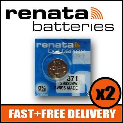 371 Watch Battery x2 - Free Delivery - SR920SW - Renata 1.55v Mercury Free