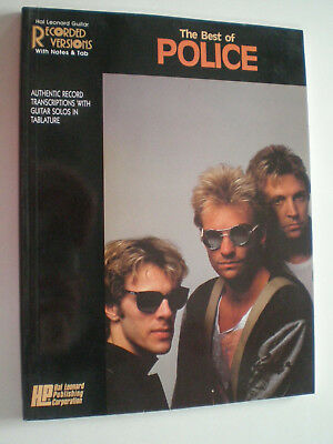 POLICE The Best GUITAR TABLATURE BOOK 1988 Hal Leonard STING