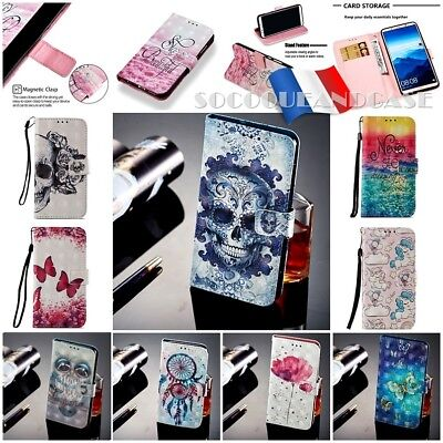Case Cover Leather PU Leather Case Cover skin Samsung Galaxy A7 or A9 (2018)