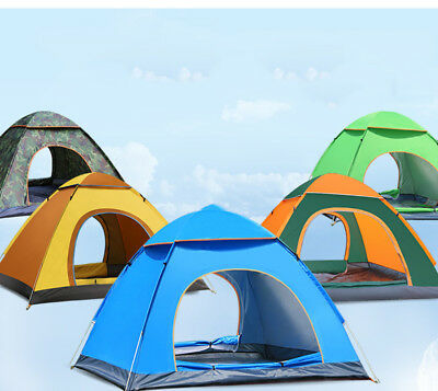 2 - 4 Person Camping Tent Waterproof Room Outdoor Hiking Backpack Fishing Beach