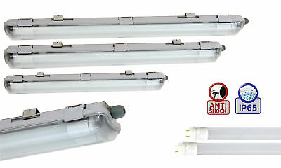Set Led Moisture-Proof Luminaire Luminaire IP65+T8 Led Tube 60 - 120 150cm Lamp