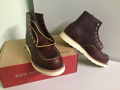 2fdeeb81a61 NEW RED WING HERITAGE 8138 MENS 9.5D BRIAR OIL SLICK CLASSIC MOC TOE BOOTS  2nds