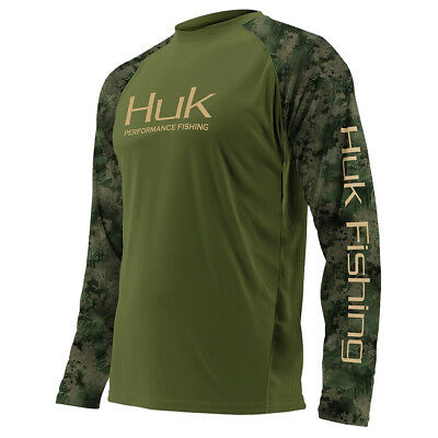 Huk Mens Performance Vented Ls Lime-Aid H1200118-330 Color