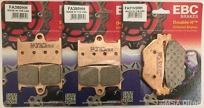 Yamaha XT1200 Super Tenere (2010 to 2018) EBC FRONT and REAR Disc Brake Pads