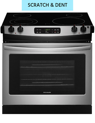 """New Scratch & Dent Frigidaire 30"""" Stainless Drop-In Electric Range FFED3026TS"""