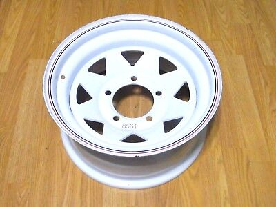 NOS Rocket Trailduster White Steel Wheel Rim 15x7 5x5 1/2 1970s Jeep Ford Truck?