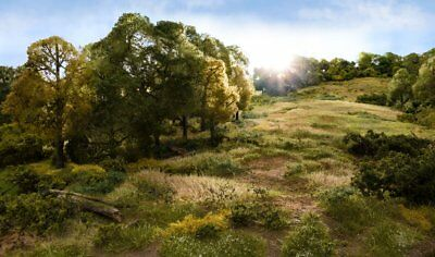 WoodlandScenics static grass and bushes for model railway and wargame scenery