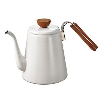 HARIO kettle BDK-80-W enameled drip Bona 800ml IH compatible White from JAPAN