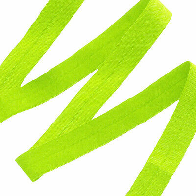 Neon Lime Fold Over Elastic - 5 Yards