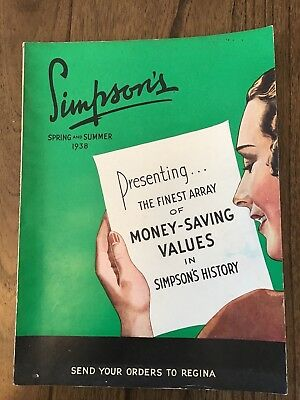 1938 Simpson's Spring And Summer Catalogue