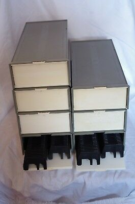 2x50 35mm UNIVERSAL SLIDE MAGAZINES IN STORAGE BOX. 7 available.