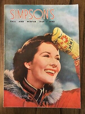 1939-1940 Simpson's Fall And Winter Catalogue