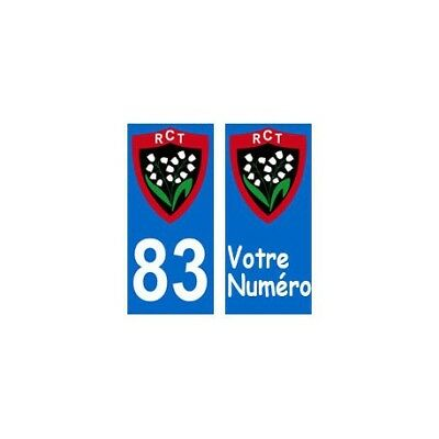 83 RCT toulon rugby autocollant plaque sticker -  Angles : droits