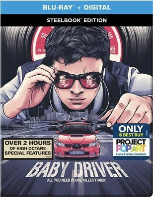 Baby Driver: SteelBook Edition (Blu-ray Disc + Digital HD) - New/Sealed