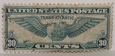 Vintage Stamps American America Usa 30 C Cent Winged Globe Airmail X1 B29