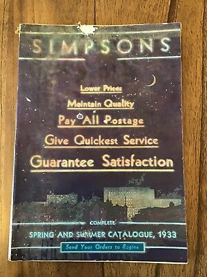 1933 Simpson's Spring And Summer Catalogue