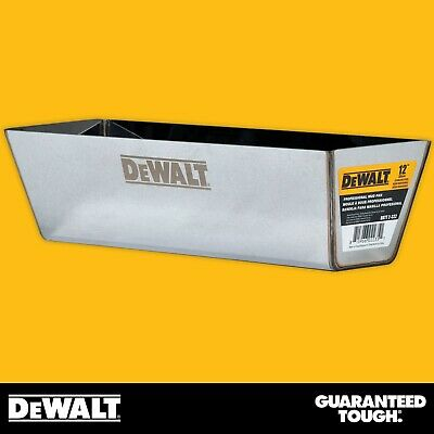 "DEWALT Drywall Mud Pan 12"" Mixing Compound Paint Heli-Arc Weld Contoured Bottom"