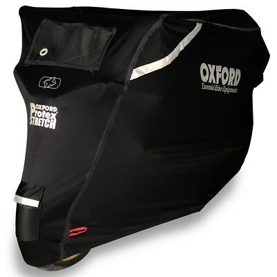 Oxford Protex Stretch Outdoor Premium Motorcycle Stretch-Fit Cover X Large CV163