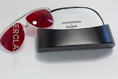 a919ad3c84d4 Oliver Peoples for Balmain Paris w/ Fight Club Blood red lenses and case &  cloth