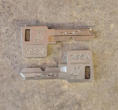 Cut ASSA Desmo High Security Keys From Trump Casino (Lot of 2) FAST FREE SHIP!!!