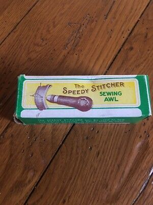 Vintage The Speedy Stitcher Sewing Awl with Box and instructions