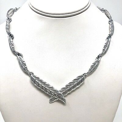 Arthur Court Necklace Aluminium Leaves 18 to 20in Adjusts Jewelry Matte