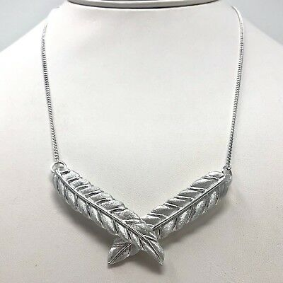 Arthur Court Necklace Aluminium Leaves 18 to 20in Adjusts Choker Jewelry
