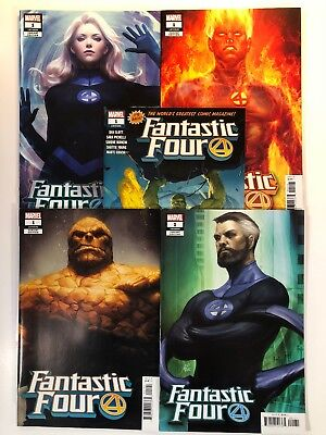 Fantastic Four #1 5 Comic Lot Stanley Artgerm Lau Variant Set Plus Ribic Cover