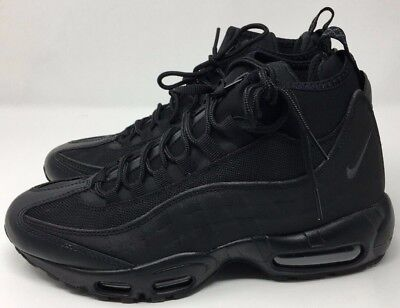 8b4536c9a4 NIKE AIR MAX 95 Sneakerboot Men's Triple Black 806809-002 Size 6.5 ...